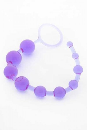 DRAGON Z LILAC JELLY ANAL BEADS WITH CORD