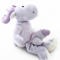 PURPLE REINDEER TEDDY WITH DICK