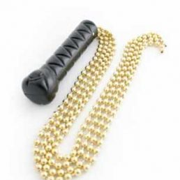 WHIP GRIP WITH GOLD METAL BEADS