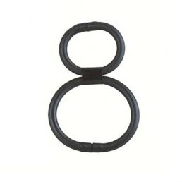 DOUBLE HELIX QUICK RELEASE ERECTION RING BLACK