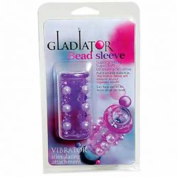 GLADIATOR BEADED PENIS SLEEVE PURPLE