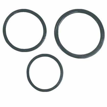 THREE COCK RINGS BULK BLACK