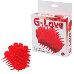 G LOVE GLOVE WITH TICKLING NUBS RED