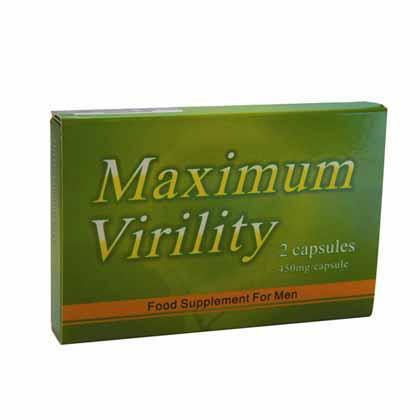 MAXIMUM VIRILITY FOOD SUPPLEMENT 2 CAPSULES