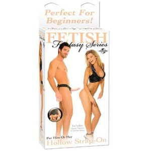 FETISH FANTASY 6 INCH HOLLOW STRAP-ON FLESH