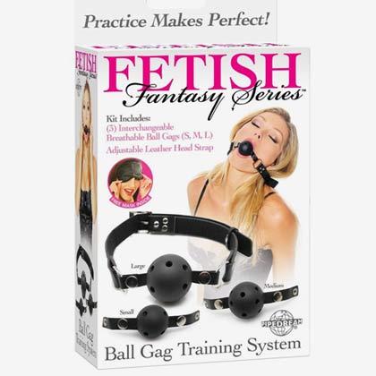 FETISH FANTASY BALL GAG TRAINING SYSTEM BLACK