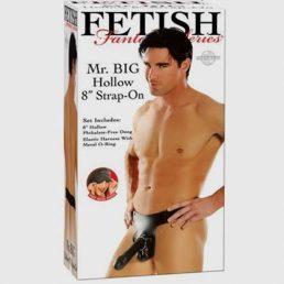 Fetish Fantasy Mr Big 8 Inch Hollow Strap-On Black