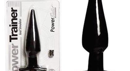 Power Trainer Butt Plug Black