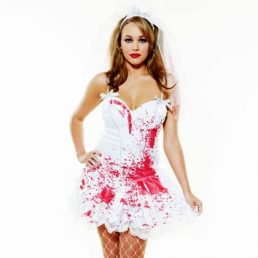 ROLE PLAY DEAD BRIDE COSTUME