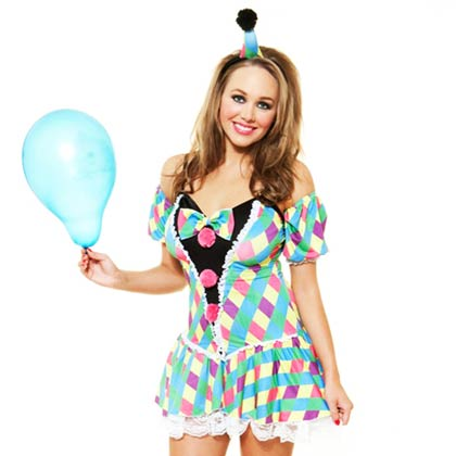 Role Play Sexy Clown Costume