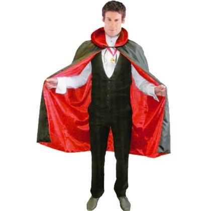 REVERSABLE DRACULA CAPE WITH MEDALLION