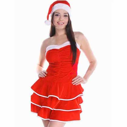 DELUXE FRILLY XMAS DRESS