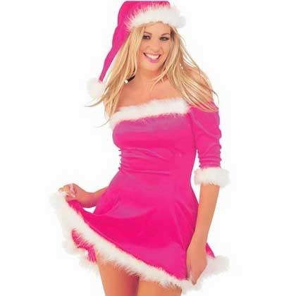 hot pink xmas dress