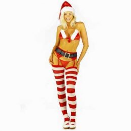 XMAS BIKINI SET WITH HAT AND STOCKINGS