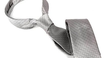 FIFTY SHADES OF GREY CHRISTIAN GREY SILVER TIE